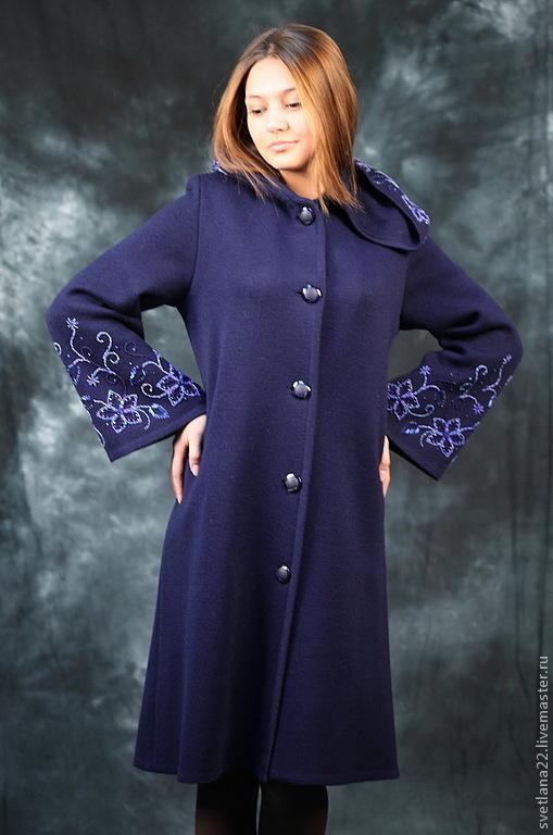 Вышивки бисером на пальто