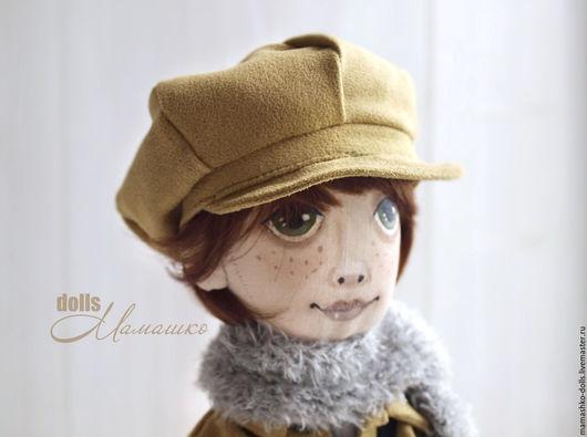 Коллекционные куклы ручной работы. Ярмарка Мастеров - ручная работа. Купить Текстильная интерьерная кукла из бязи мальчик Пьер. Handmade.