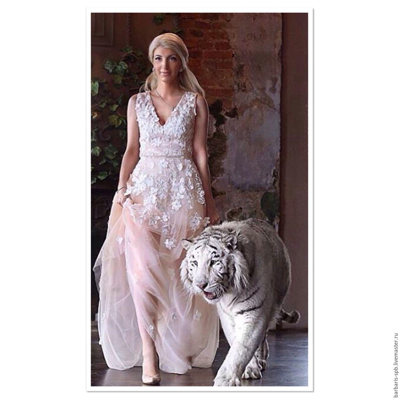 Платье из кружева и фатина фото