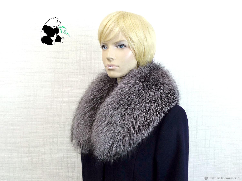 Removable fur collar Fox fur. Art. TK-567, Collars, Ekaterinburg,  Фото №1