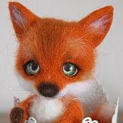 Куклы и игрушки ручной работы. Ярмарка Мастеров - ручная работа Лисичка. Лисенок из шерсти.. Handmade.