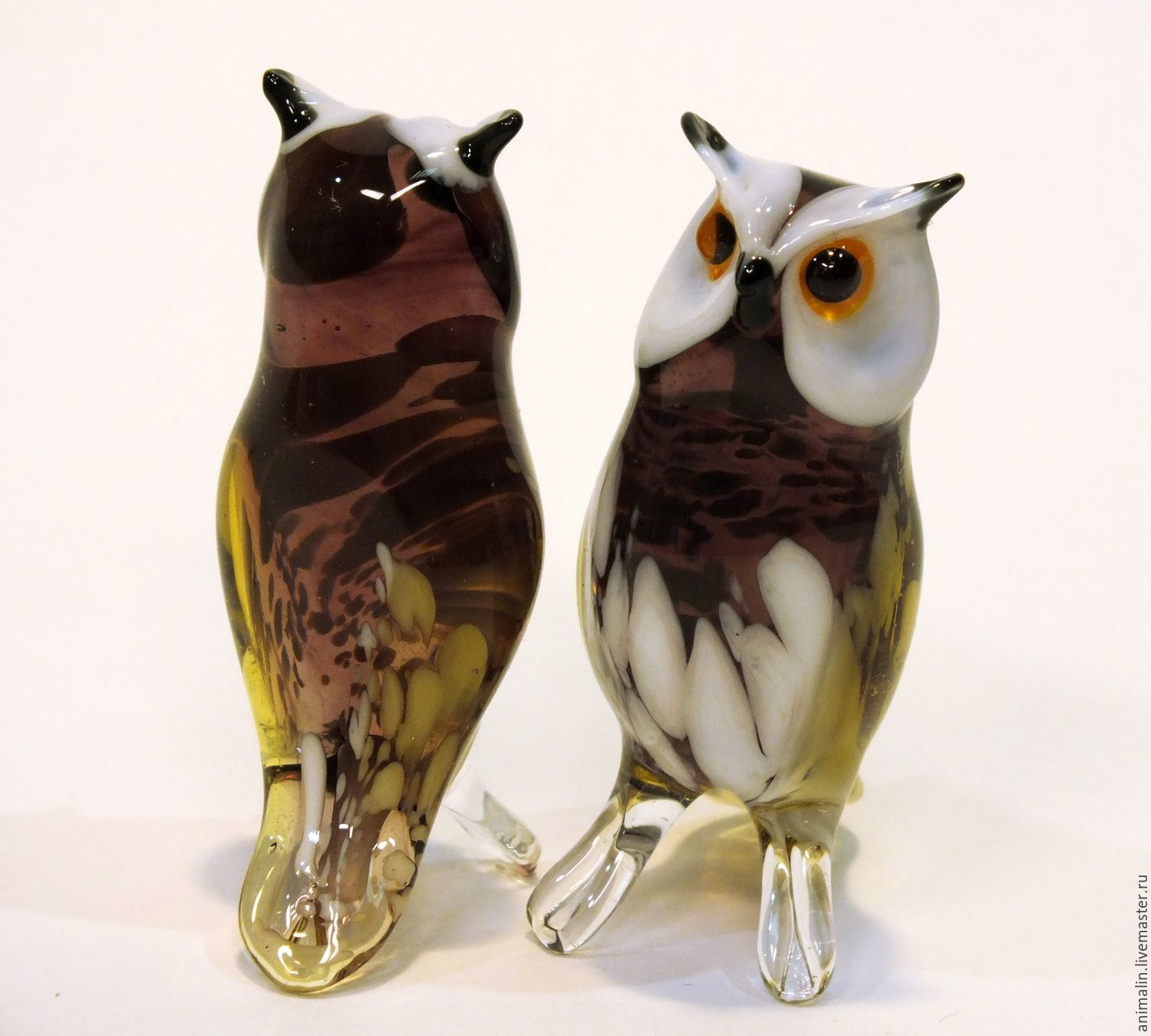 Decorative figurine made of colored glass Owl Sigmund, Figurines, Moscow,  Фото №1