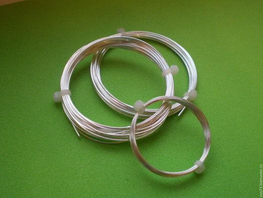 Ювелирная серебряная проволока 0,5 мм серебро 925 пробы