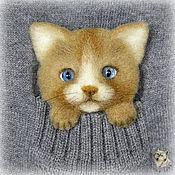 Украшения handmade. Livemaster - original item Cat. The brooch on the pocket.. Handmade.