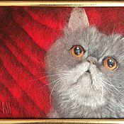 """Картины и панно ручной работы. Ярмарка Мастеров - ручная работа """"Котэ Барсик"""". Handmade."""