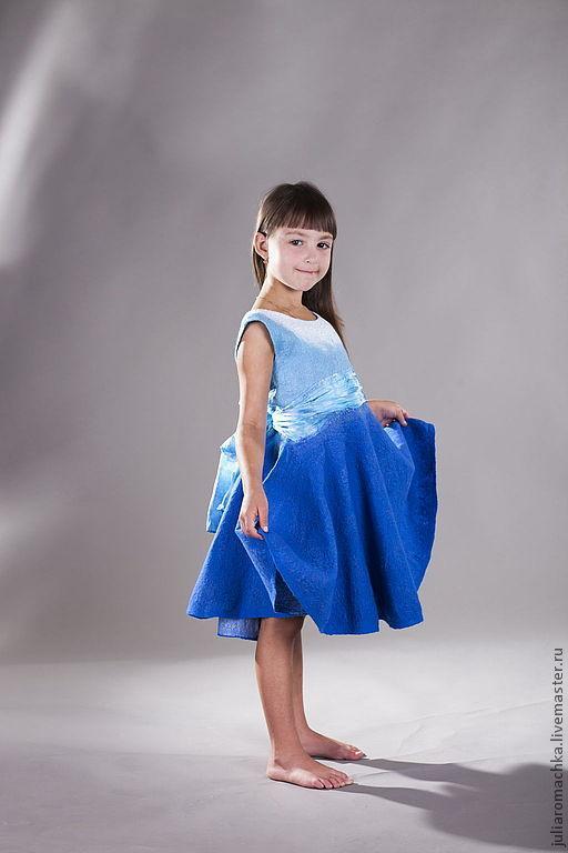 Одежда для девочек, ручной работы. Ярмарка Мастеров - ручная работа. Купить Синяя птица. Handmade. Тёмно-синий, детская мода