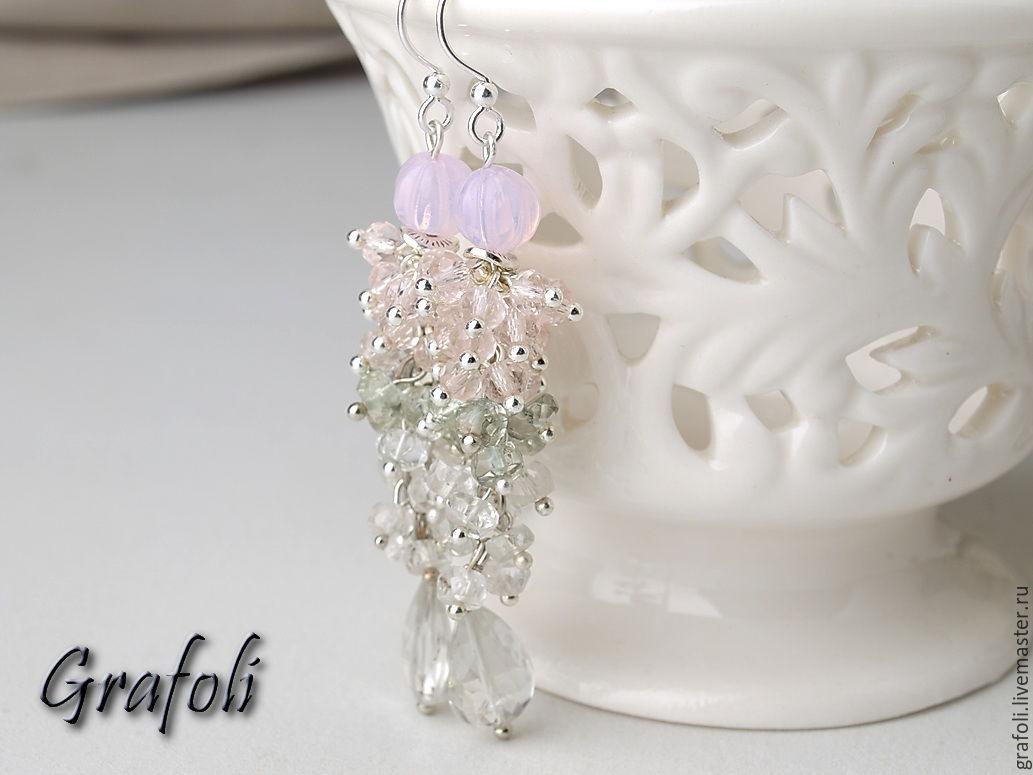 Long earrings with stones, Earrings, Moscow,  Фото №1