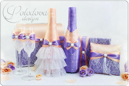 Свадебные аксессуары ручной работы. Набор свадебных аксессуаров. Комплект аксессуаров, набор для свадьбы.