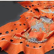Аксессуары ручной работы. Ярмарка Мастеров - ручная работа шарф-платок  Цепная реакция. Handmade.