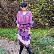 Одежда ручной работы. Ярмарка Мастеров - ручная работа Комплект БОХО  (юбка, блузон) (382). Handmade.