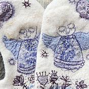 "ручной работы. Ярмарка Мастеров - ручная работа Валяные варежки ""Тёплый ангел"".. Handmade."