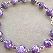 Украшения handmade. Livemaster - original item Necklace and earrings PLUM amethyst. Handmade.
