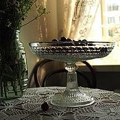 Винтаж handmade. Livemaster - original item Fruit bowl Dyatkovskaya Maltsov factory. Handmade.