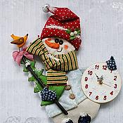 Для дома и интерьера handmade. Livemaster - original item Wall mural - watch the Snowman. Handmade.