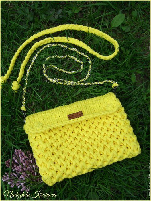 Женские сумки ручной работы. Ярмарка Мастеров - ручная работа. Купить Клатч. Handmade. Желтый, клатч ручной работы