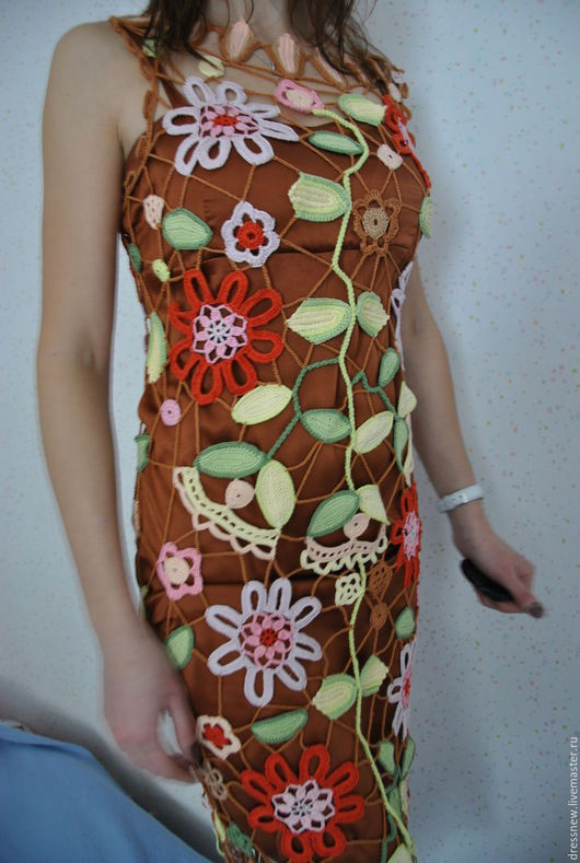 Платья ручной работы. Ярмарка Мастеров - ручная работа. Купить Туника по мотивам Лауры Бьяджотти. Handmade. Ирландское вязание, комбинированный