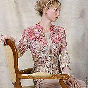 """Одежда ручной работы. Ярмарка Мастеров - ручная работа Жакет """"Цветочный парфе"""". Handmade."""