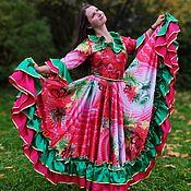 """Карнавальные костюмы ручной работы. Ярмарка Мастеров - ручная работа Цыганский костюм """"Розовый с зеленой оборкой"""". Handmade."""
