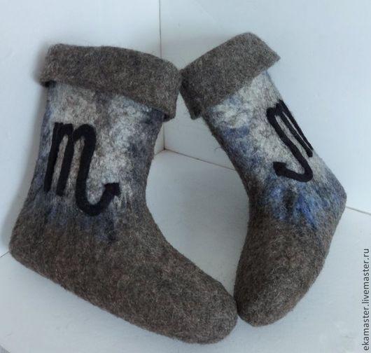 """Обувь ручной работы. Ярмарка Мастеров - ручная работа. Купить Валенки мужские """"Под знаком Скорпиона"""". Handmade. Валенки"""