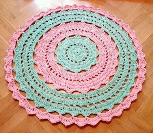 Текстиль, ковры ручной работы. Ярмарка Мастеров - ручная работа. Купить Ковёр из трикотажной пряжи. Handmade. Вязание на заказ