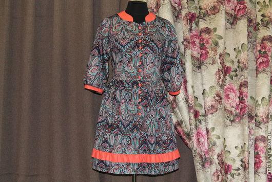 Платья ручной работы. Ярмарка Мастеров - ручная работа. Купить Платье. Handmade. Пейсли, платьице, вискоза