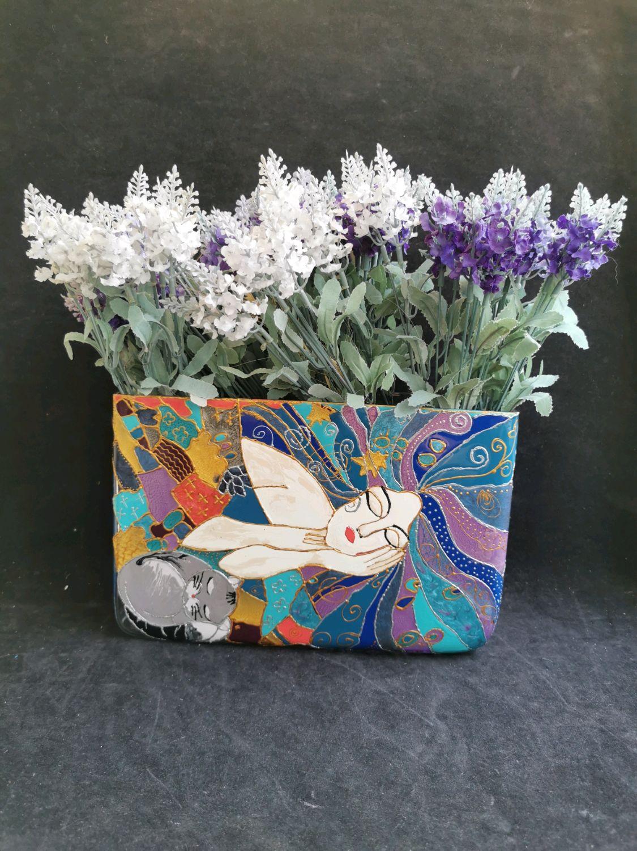 Flower vase,, Love,, hand-painted glass vase, Vases, Riga,  Фото №1