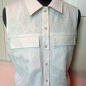 Одежда handmade. Livemaster - original item Women`s sleeveless Shirt Sacna. Handmade.