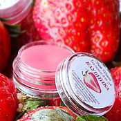 Косметика ручной работы handmade. Livemaster - original item Lip balm STRAWBERRY. Handmade.
