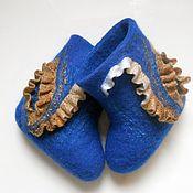 """Обувь ручной работы. Ярмарка Мастеров - ручная работа Детские валенки """"Стильная синева.."""")). Handmade."""
