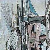 """Картины и панно ручной работы. Ярмарка Мастеров - ручная работа Картина акварелью """"Переулок"""". Handmade."""