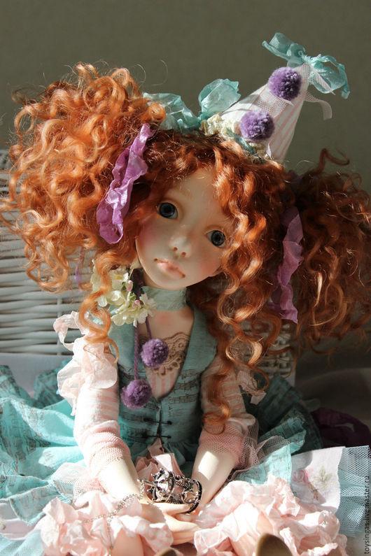 Коллекционные куклы ручной работы. Ярмарка Мастеров - ручная работа. Купить Полет. Handmade. Бирюзовый, кукла интерьерная, подарок девушке