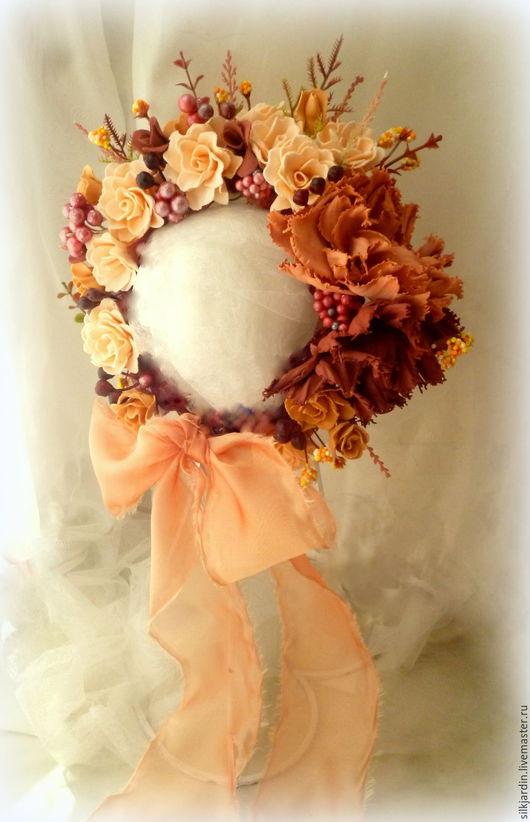 Для новорожденных, ручной работы. Ярмарка Мастеров - ручная работа. Купить Шапочка для фотосессии новорождённой с розами. Handmade. Цветочный, newborn
