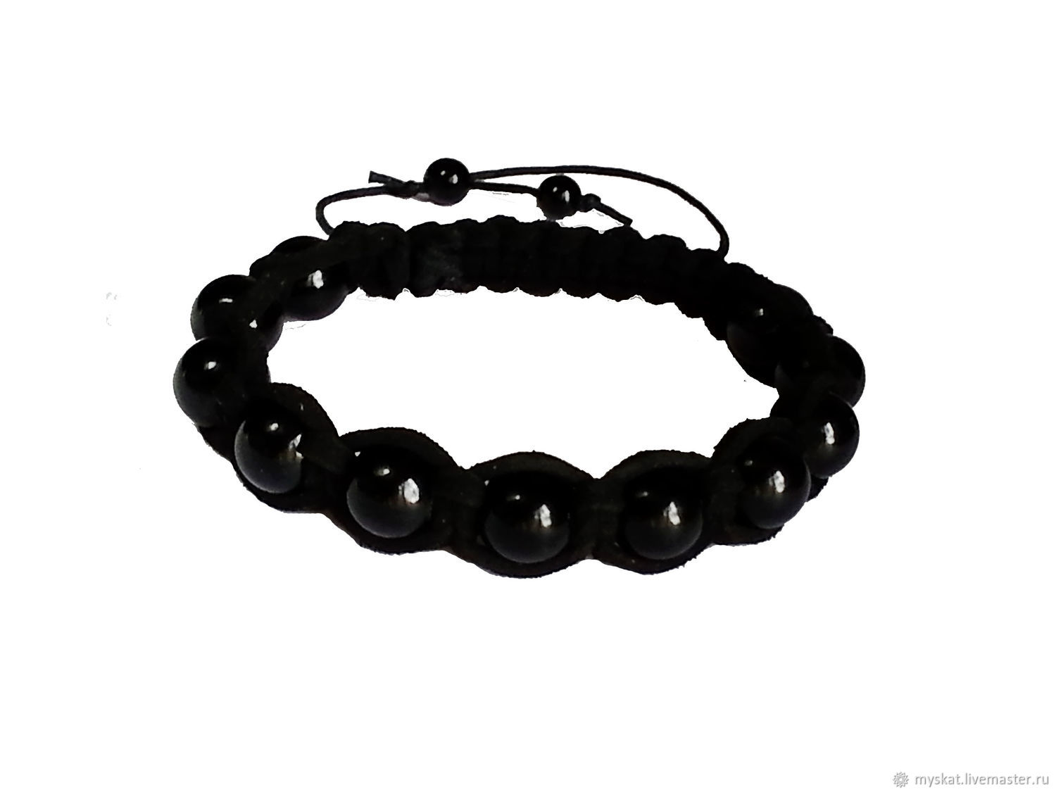A bracelet made of beads: Bracelet of agate in leather suede, Bead bracelet, Moscow,  Фото №1