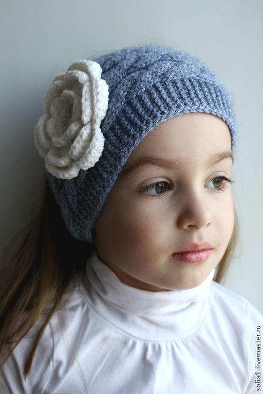 Шапки и шарфы ручной работы. Ярмарка Мастеров - ручная работа. Купить Вязанная повязка на голову для девочки. Handmade. Серый