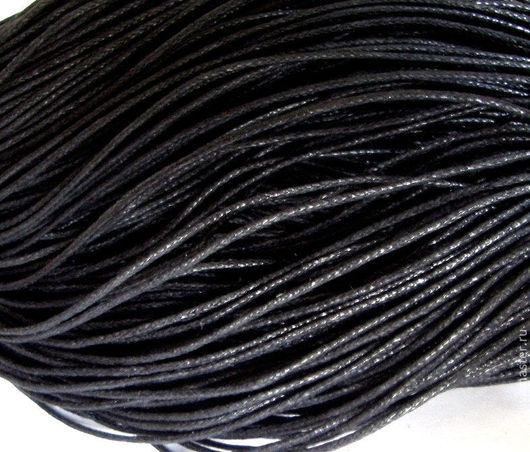 Для украшений ручной работы. Ярмарка Мастеров - ручная работа. Купить 10м Шнур вощеный черный 1мм. Handmade.