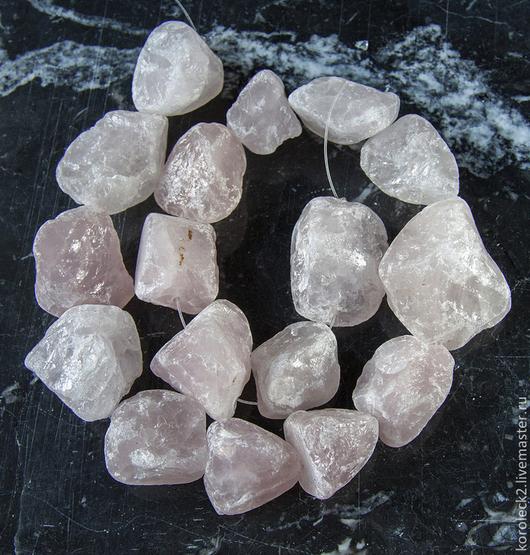 Для украшений ручной работы. Ярмарка Мастеров - ручная работа. Купить Бусины - кристаллы из необработанного розового кварца. Handmade.