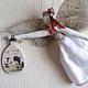 Подвески ручной работы. Ярмарка Мастеров - ручная работа. Купить Ангелы летящие. Handmade. Ангелы, подарок на любой случай, тесьма
