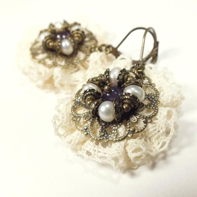 Morning Lace Fairy. earrings, Earrings, St. Petersburg,  Фото №1