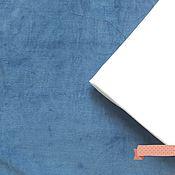 """Ткани ручной работы. Ярмарка Мастеров - ручная работа Хлопковый велюр """"Индиго"""". Handmade."""