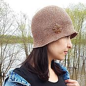 Аксессуары handmade. Livemaster - original item Hat with brooch handmade summer. Handmade.