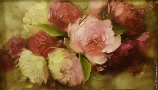 Картины цветов ручной работы. Ярмарка Мастеров - ручная работа. Купить Пионы. Handmade. Розовый, картина для интерьера