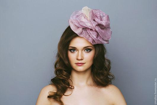 Шляпы ручной работы. Ярмарка Мастеров - ручная работа. Купить Сиреневая Роза. Handmade. Сиреневый, цветы ручной работы
