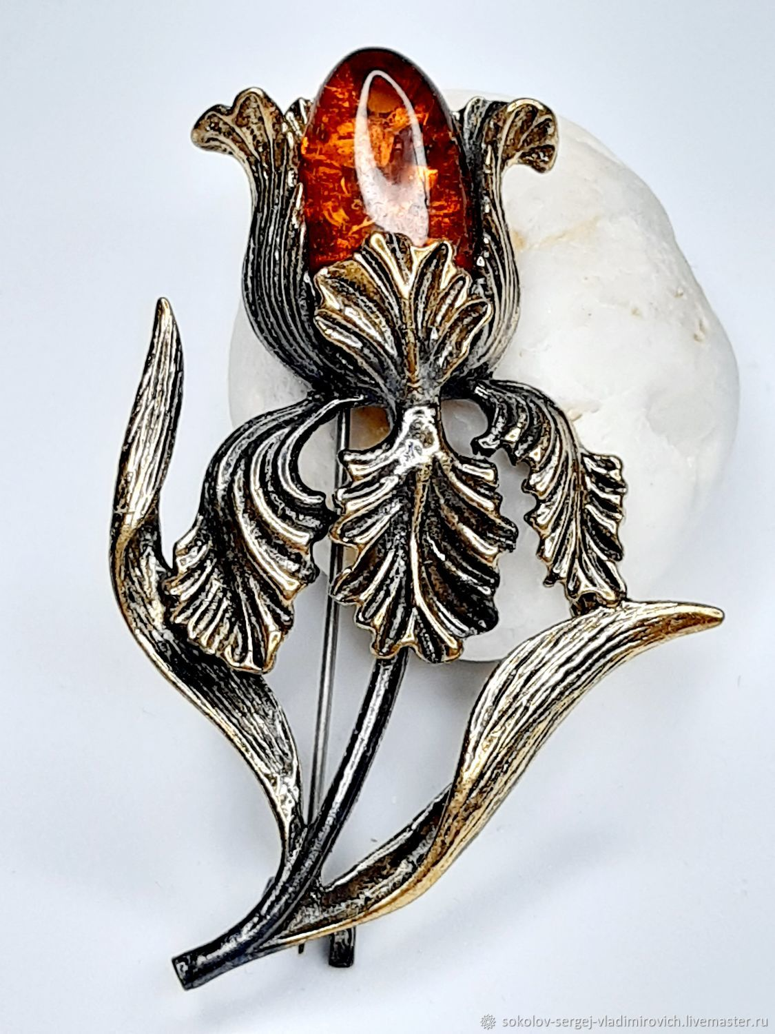 Brooch Iris, Brooches, Moscow,  Фото №1