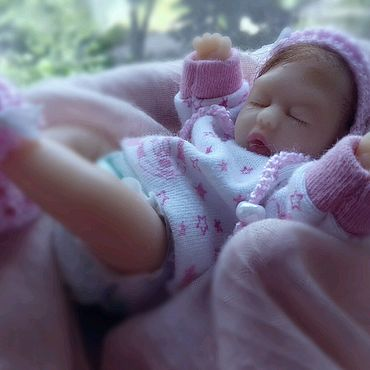 Куклы и игрушки ручной работы. Ярмарка Мастеров - ручная работа Мини реборн силиконовый. Handmade.