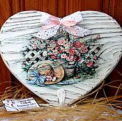 """Вешалки и крючки ручной работы. Ярмарка Мастеров - ручная работа Вешалка/ключница """"Букет садовых роз"""". Handmade."""