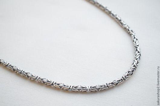 Для украшений ручной работы. Ярмарка Мастеров - ручная работа. Купить Цепочка серебрение сложное плетение  55см и 60см. Handmade.