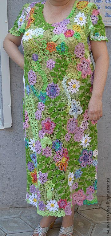 """Большие размеры ручной работы. Ярмарка Мастеров - ручная работа. Купить Платье""""Летняя поляна"""". Handmade. Летнее платье, большой размер"""
