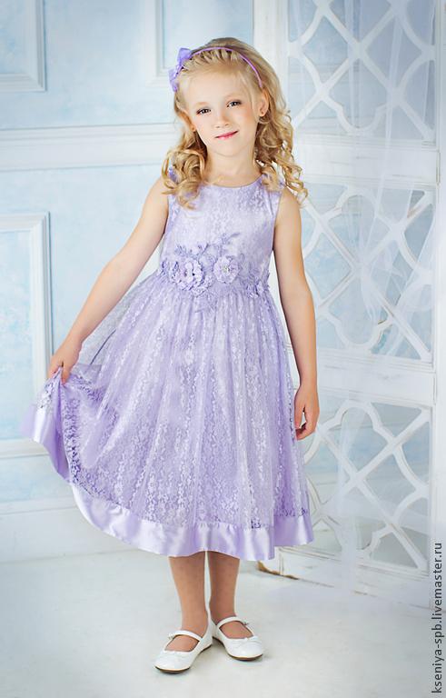 """Одежда для девочек, ручной работы. Ярмарка Мастеров - ручная работа. Купить Нарядное платье для девочки, красивое - """"Сиреневая нежность"""". Handmade."""