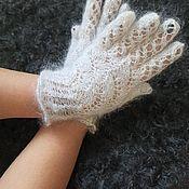 Аксессуары handmade. Livemaster - original item Down gloves. Handmade.