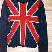 """Одежда ручной работы. Ярмарка Мастеров - ручная работа Свитер """"Британский флаг"""". Handmade."""
